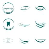 Logo dentaire, logo de société Photographie stock