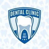 Logo dentario della clinica Fotografia Stock Libera da Diritti