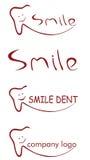 Logo dentario di sorriso Fotografia Stock Libera da Diritti