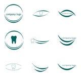 Logo dentario, logo della società Fotografia Stock