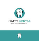 Logo for dentist. Happy tooth character Stock Images