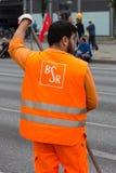 Logo der Berlin Waste Management- und Stadt-Reinigungsfirma BSR lizenzfreie stockfotos