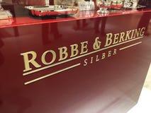 Logo der deutschen Firma Robbe und Berking Stockbilder