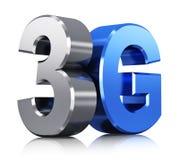 Logo der drahtlosen Technologie 3G Stockbild