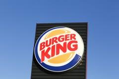 Logo der Fastfood-Kette Burger King Stockfotografie