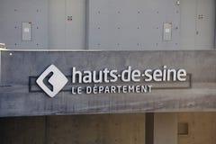 Logo der französischen Abteilung des Hauts die Seine Lizenzfreies Stockbild