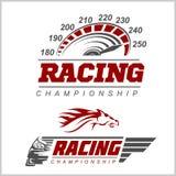 Logo der laufenden Meisterschaft vektor abbildung
