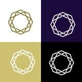 Logo der Polygon-Form Stockfoto