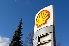 Logo der Shell-Öl-Firma Stockfotos
