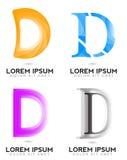 Logo des Buchstabe-D Stockfotos