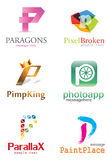 Logo des Buchstabe-P Stockfotografie