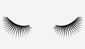 Logo des cils Cheveux stylisés Lignes abstraites de forme triangulaire Illustration noire et blanche de vecteur Photographie stock libre de droits