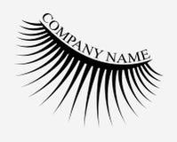 Logo des cils Cheveux stylisés Lignes abstraites de forme triangulaire Illustration noire et blanche de vecteur Image stock