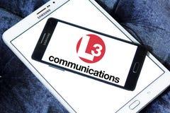 Logo des communications L3 photo stock