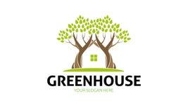 Logo des grünen Hauses Stockfotografie