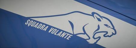 Logo des italienischen Polizeiwagens Stockfoto