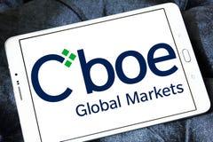 Logo des marchés globaux de Cboe images stock
