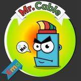 Logo des optischen Kabels Lizenzfreie Stockfotos