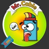 Logo des optischen Kabels Stockfoto