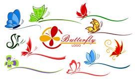 Logo des papillons Images libres de droits
