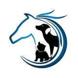 Logo des Pferds, des Hundes und der Katze vektor abbildung