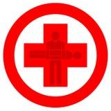 Logo des roten Kreuzes stockfoto