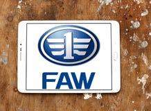 Logo des véhicules à moteur de société de FAW Photo libre de droits