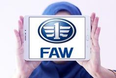Logo des véhicules à moteur de société de FAW Images libres de droits