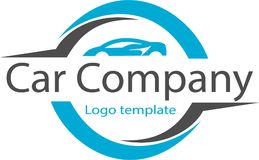 Car company and logo image. This logo describes a car rental company for the family, many among the middle down which often use this car rental service to travel Royalty Free Stock Photos