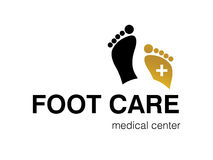 Logo design. Vector illustration of logo for foot care center Stock Photos
