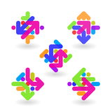 Logo design abstract elements Stock Images