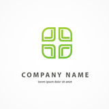 Logo design abstract medical vector template Royalty Free Stock Photography