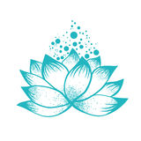 Logo Design abstrato de Lotus Flower Foto de Stock