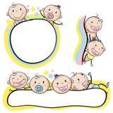 Logo design with babies Stock Image