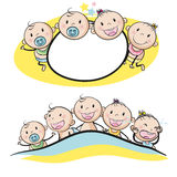 Logo design with babies smiling Stock Photography