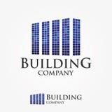 Logo Design For Building Company Real Estate, affär Fotografering för Bildbyråer