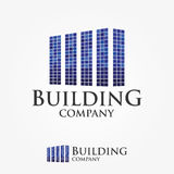 Logo Design For Building Company, Real Estate, Zaken Stock Afbeelding