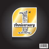 Logo design of celebration 1 years anniversary Royalty Free Stock Images