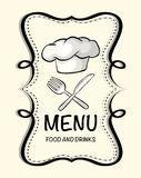 Logo design with chef hat Royalty Free Stock Images