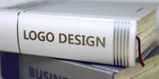 Logo Design Concept Boektitel 3d Stock Afbeelding