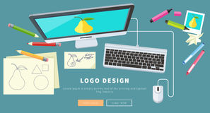 Logo Design Concept Stock Photography