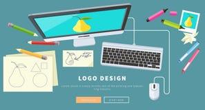 Logo Design Concept stock illustration