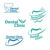 Logo Design dental Dentista criativo Logo Logotipo do vetor de Dental Clínica Criativo Empresa Foto de Stock