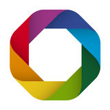 Logo design in eight colors Stock Photography