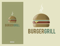 Logo design element burger Royalty Free Stock Photo
