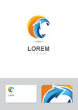 Logo design element with business card template.  Royalty Free Stock Photo