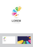 Logo design element with business card template.  Stock Photos