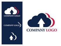Logo design element Cloud company Royalty Free Stock Photography