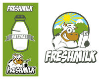 Logo design element Cow Fresh Millk Royalty Free Stock Photos