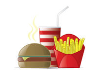 Logo design element Fast food meal Royalty Free Stock Image